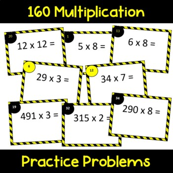 Multiplication Cards by 1 Digit