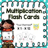 Multiplication Flash Cards - owls