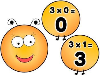 Multiplication Caterpillars - Wall Decor - Tables 1-12