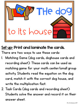 Multiplication Center 3rd Grade - Multiplication Task Cards