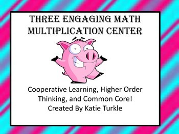 Multiplication Center Games Basic Facts and 2 digit by 1 digit Word Problems