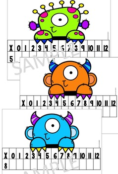 Multiplication Center- Monster Theme