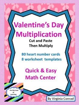 Multiplication Center---Valentine's Day Theme