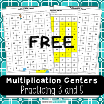Multiplication Centers: Practice Multiples of 3 and 5