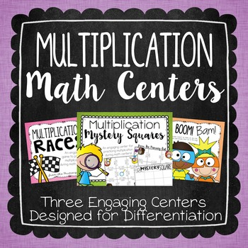 Multiplication Centers {for Differentiating in Grades 4-5}