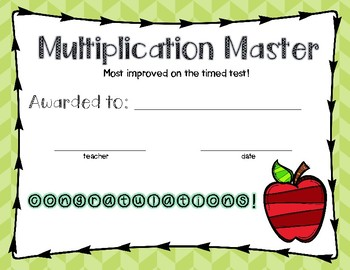 Multiplication Certificate