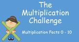 Multiplication Challenge Fact Practice: Timed Slides