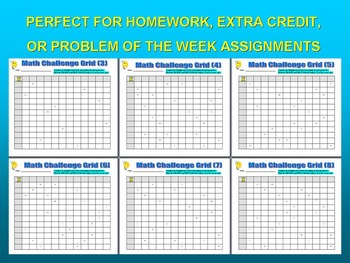 Multiplication Challenge Grids (Problem Solving and Basic Skills)
