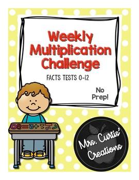 Multiplication Challenge No Prep 3rd Grade
