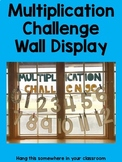 Multiplication Challenge Wall Display