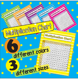 Multiplication Chart - 6 different colors **3 different sizes**