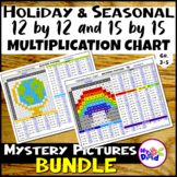 Holiday and Seasonal Multiplication Chart Mystery Pictures