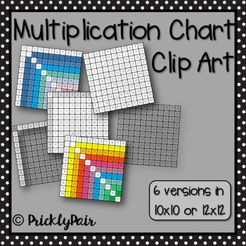 Multiplication Chart Clip Art
