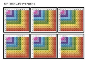 Multiplication Chart Desk Tags for Target Pockets