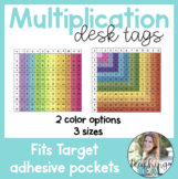 Multiplication Chart Desk Tags for Target Pockets