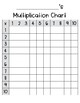 Multiplication Chart-Filled In and Blank