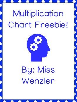 Multiplication Chart Freebie!