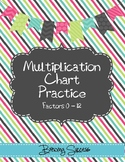 Multiplication Chart Practice Factors 0-12
