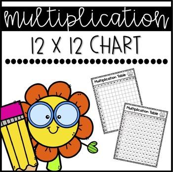 Multiplication Chart 1 12 Teaching Resources Teachers Pay Teachers
