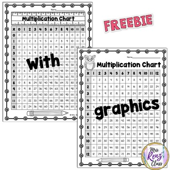 Multiplication Charts  {FREEBIE}  Student Multiplication Chart with 8 Options