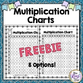 Multiplication Charts  {FREEBIE}  Student Multiplication C