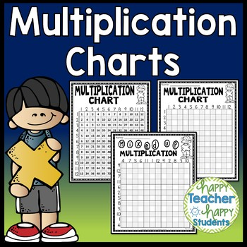Multiplication Charts: Reference Charts & 3 Multiplication Worksheets: 1 thru 12