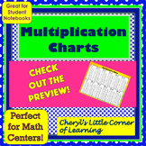 Multiplication Charts and Tables