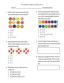 Multiplication Check Up Quiz #1