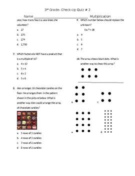 Multiplication Check Up Quiz #2