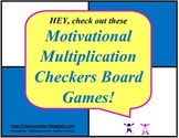 Multiplication Checkers Board Games with Quizzes, Word Problems, and more!