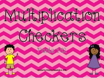 Multiplication Checkers Facts 1-12