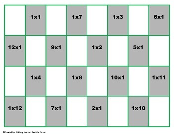 "1's Multiplication Checkers Games w/Quizzes etc. and ""Scaffolding Support"""