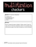 Multiplication Checkers_Math Center