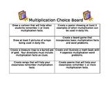 Multiplication Choice Board