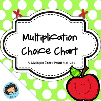 Multiplication Choice Chart- Multiple Entry Points Activity
