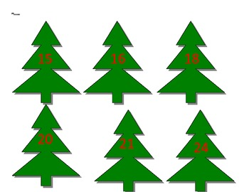 Multiplication Christmas Tree
