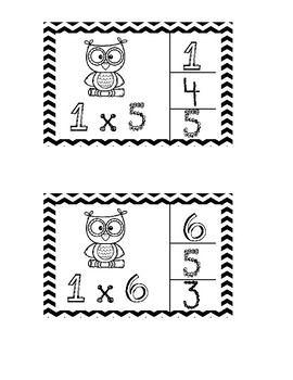 Multiplication Clip Cards (1x)