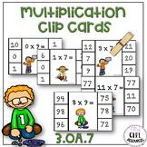 Multiplication Clip Cards