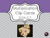 Multiplication Clip Cards   3.OA.C.7