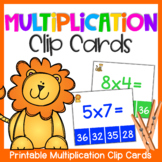 Multiplication Clip Cards: Multiplication Center Activity for Fact Fluency