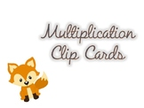 Multiplication Clip Cards Game! ALL FACTS 1-12