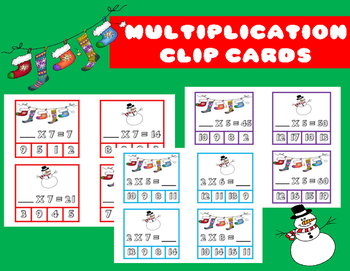 Multiplication Clip Cards: Holiday Style