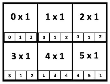 Multiplication Clip, Flip and Check