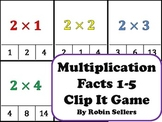 Multiplication: {Clip It Multiplication Game for Multiplication Facts 1-5}