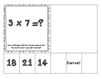 Multiplication Clip and Assess Cards