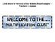 Multiplication Club Bulletin Board Set ~ FREEBIE