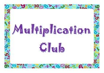 Multiplication Club Display