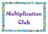 Multiplication Club Display