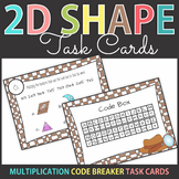 Multiplication Code Breaker Task Cards with 2D Shapes SCOOT