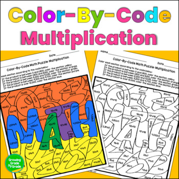 Multiplication Color By Code Math Puzzle
